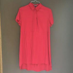Red Express Shirt Dress